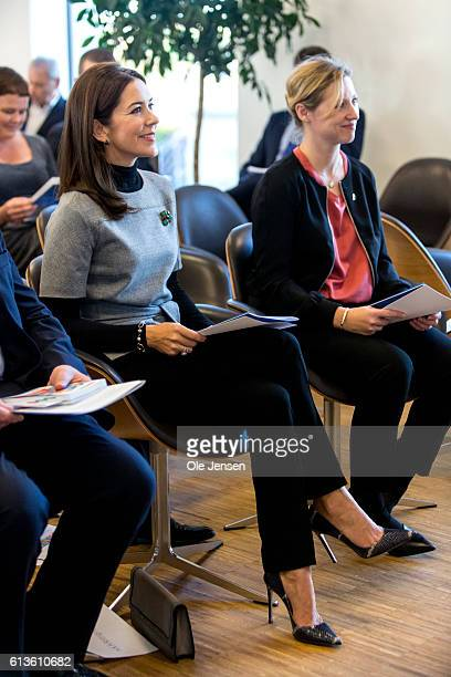 Danish Crown Princess Mary attends at the Government Hospital preopening of the ESMO cancer congress where she meets high level ESMO officials and...