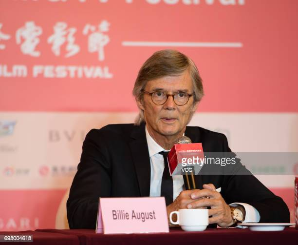 Danish director Bille August attends the press conference of film 'The Chinese Widow' during the 20th International Film Festival on June 19 2017 in...