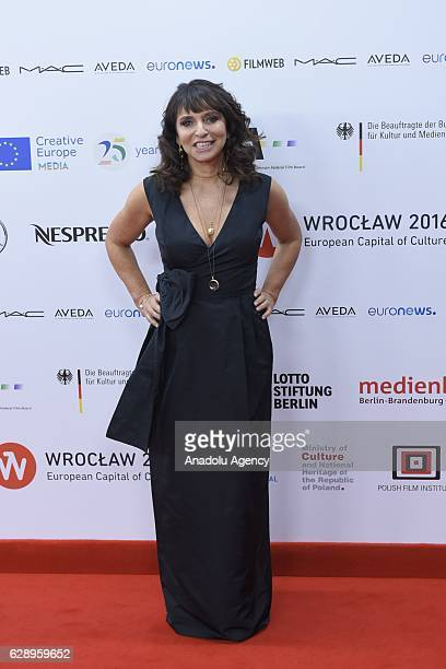 Danish director Susanne Bier attends a red carpet ceremony during the 29th European Film Awards at the National Forum of Music Wroclaw Poland on...