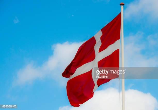 Danish Flag Against Sky