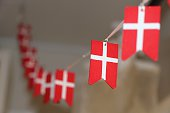 A serie of Danish Flags