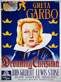 A Danish poster for Rouben Mamoulian's 1933 biopic 'Dronning Christina' starring Greta Garbo