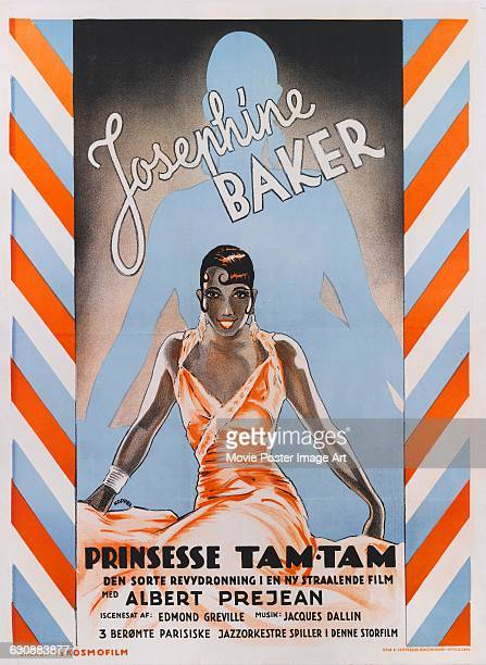 A Danish poster for the 1935 French film 'Princesse TamTam' starring actress singer and dancer Josephine Baker