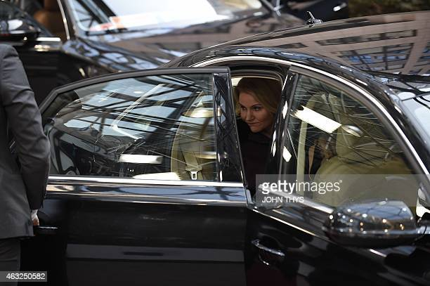 Danish Prime Minister Helle ThorningSchmidt arrives ahead of the European Council Summit at the European Union Headquarters in Brussels on February...