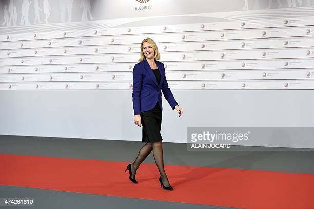 Danish Prime minister Helle ThorningSchmidt arrives at the House of the Blackhead for an informal dinner at the start of the fourth European Union...