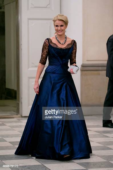 Danish Prime Minister Helle ThorningSchmidt attends a State Banquet at Christiansborg Palace during the state visit of the King and Queen of the...