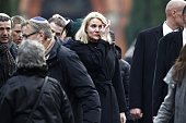 Danish Prime Minister Helle ThorningSchmidt attends the burial of Dan Uzan Jewish victim of the February 15 2015 attacks at the Vestre Kirkegaard...