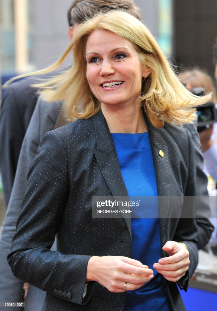 Danish Prime Minister Helle Thorning-Schmidt leaves the EU Headquarters on November 22, 2012 in Brussels, during a two-day European Union leaders summit called to agree a hotly-contested trillion-euro budget through 2020. European Union officials were scrambling to find an all but impossible compromise on the 2014-2020 budget that could successfully move richer nations looking for cutbacks closer to poorer ones who look to Brussels to prop up hard-hit industries and regions. AFP PHOTO / GEORGES GOBET