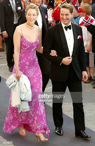 Danish Princess Alexandria and Count Jefferson arrive at a reception hosted by the Norwegian government May 23 2002 in Trondheim Norway The couple is...