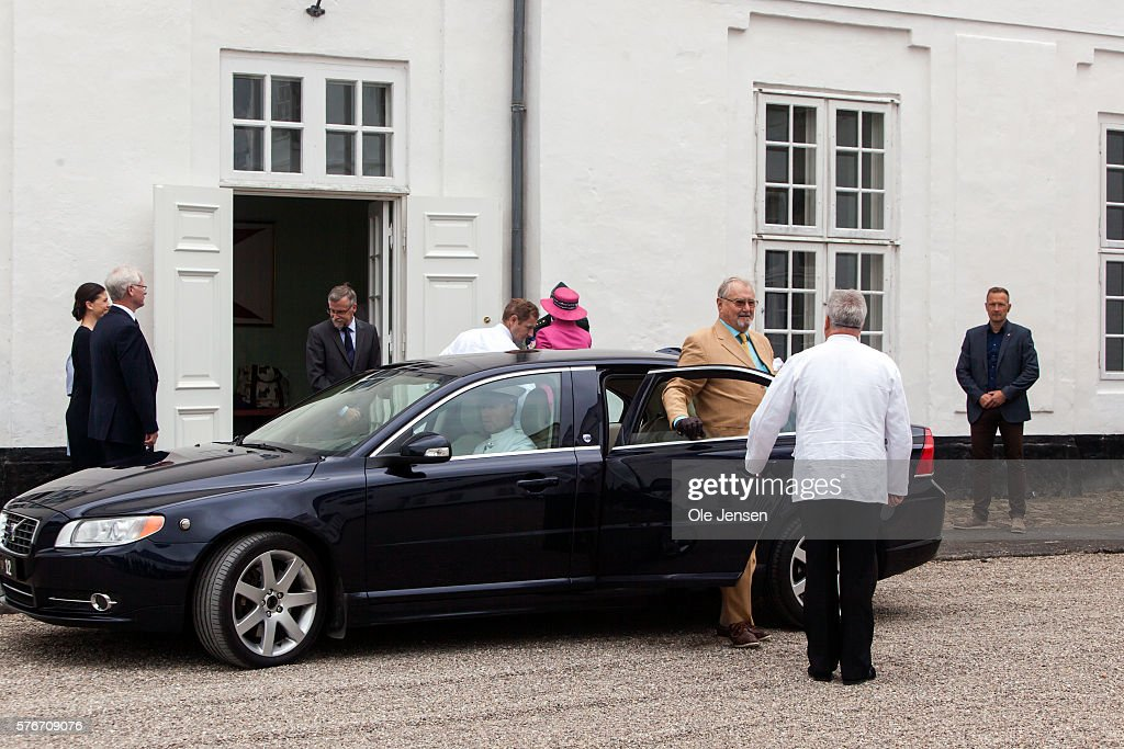 Danish Queen Margrethe and Prince Henrik arrives to Graasten Slot (read: Graasten Castle) in Graasten, Denmark, on July 15, 2016.