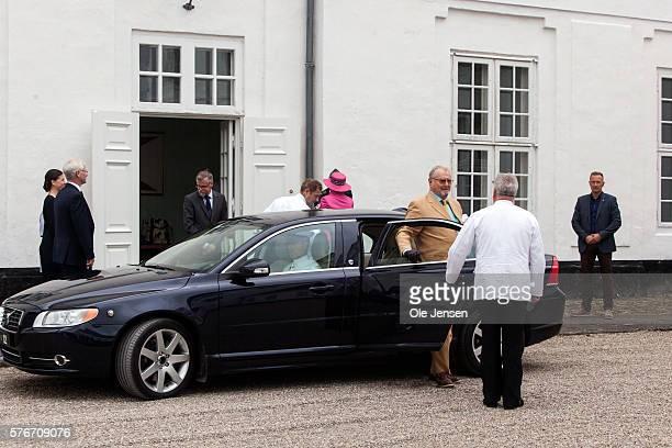 Danish Queen Margrethe and Prince Henrik arrives to Graasten Slot in Graasten Denmark on July 15 2016