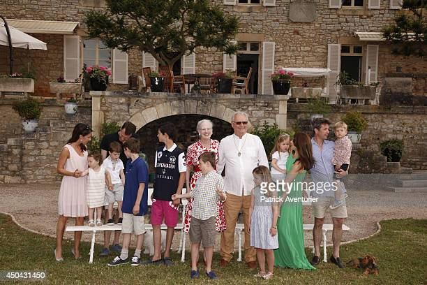 Danish Royal Family of Denmark attends a Photocall at Chateau de Cayx on June 11 2014 in Luzech France