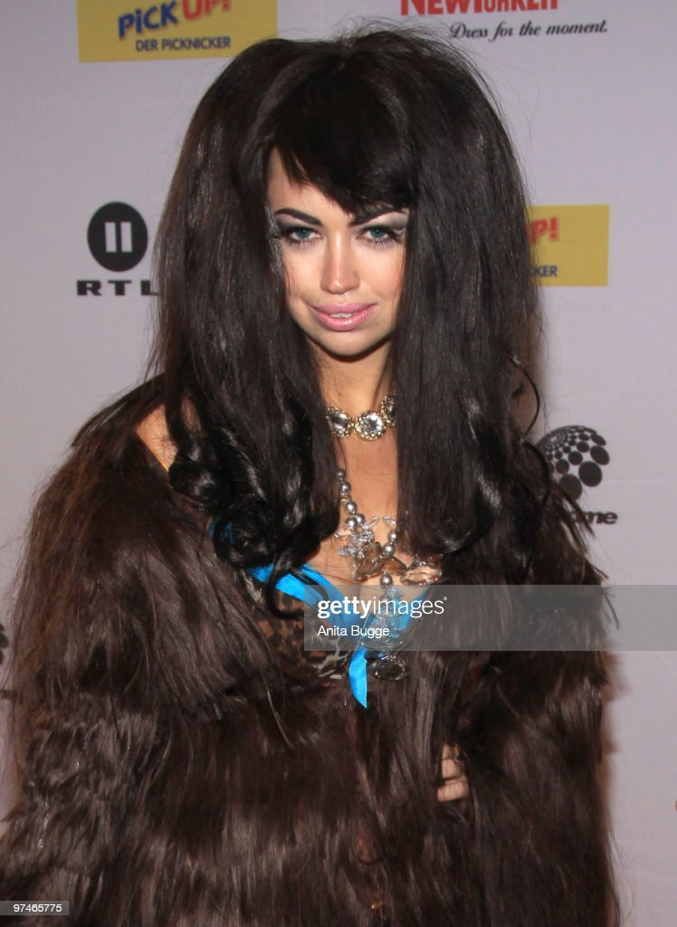 Danish singer Aura Dione arrives to the 'The Dome' music event on March 5, 2010 in Berlin, Germany.