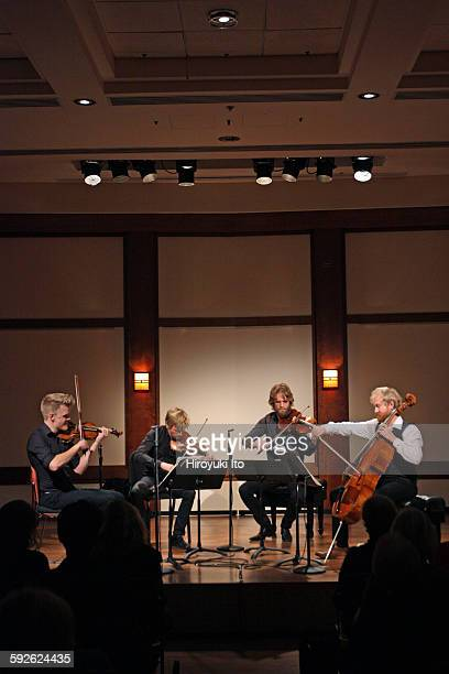 Danish String Quartet performing the Carl Nielsen Quartet Cycle at Rose Studio on Thursday night November 12 2015They are from left Frederik Oland...