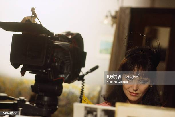 Danishborn actress and singer Anna Karina on the set of Dernier ete a Tanger directed by Alexandre Arcady and based on William O'Farrell's novel Au...