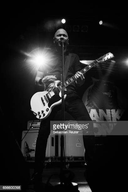 Danko Jones of Danko Jones performs at Huxleys Neue Welt on March 22 2017 in Berlin Germany