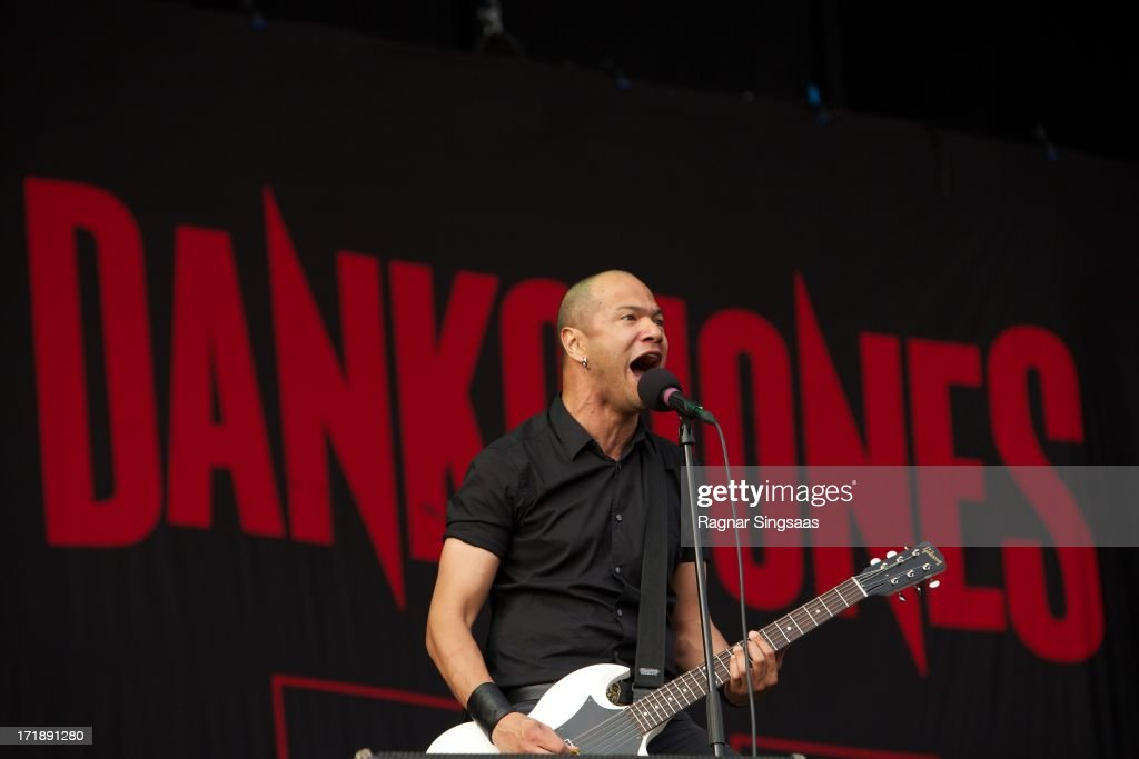 <a gi-track='captionPersonalityLinkClicked' href=/galleries/search?phrase=Danko+Jones&family=editorial&specificpeople=5714984 ng-click='$event.stopPropagation()'>Danko Jones</a> performs on stage on Day 4 of Rock The Beach Festival on June 29, 2013 in Helsinki, Finland.