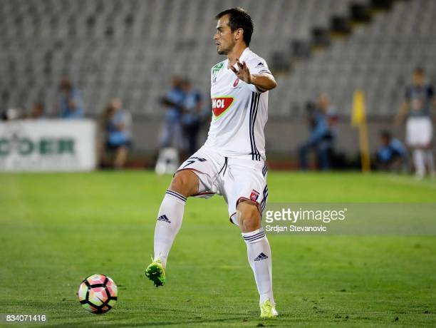 Danko Lazovic of Videoton in action during the UEFA Europa League Qualifying PlayOffs round first leg match between Partizan and Videoton FC at...