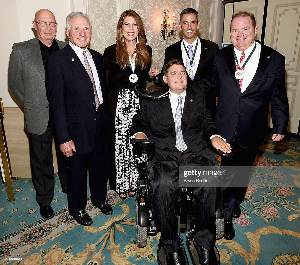 Dann Florek, Nick Buoniconti, Jennifer Capriati, Marc Buoniconti, Jorge Posada and Chip Ganassi attend the 30th Annual Great Sports Legends Dinner to benefit The Buoniconti Fund to Cure Paralysis at The Waldorf Astoria on October 6, 2015 in New York City.