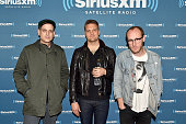 Dann Gallucci Nathan Willett and Matt Maust of Cold War Kids attend a private concert for SiriusXM subscribers on December 18 2015 in West Hollywood...