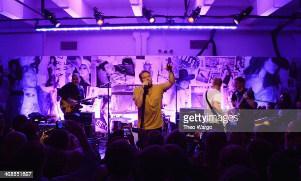 Dann Gallucci Nathan Willett and Matt Maust of Cold War Kids perform at GUESS Celebrates New York Fashion Week On the Road to Nashville at Center 548...