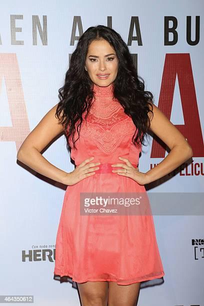Danna Garcia attends 'A La Mala' Mexico City premiere at Cinepolis Antara Polanco on February 24 2015 in Mexico City Mexico
