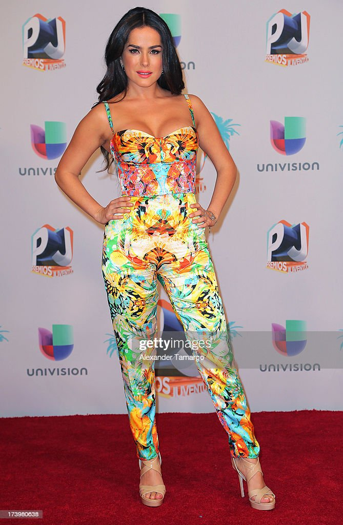 Danna Garcia poses in the press room during the Premios Juventud 2013 at Bank United Center on July 18, 2013 in Miami, Florida.