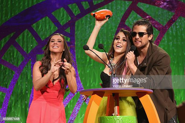 Danna Paola and guests onstage during the Nickelodeon Kids' Choice Awards Mexico 2014 at Pepsi Center WTC on September 20 2014 in Mexico City Mexico