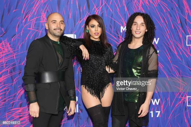 Danna Paola and Rules attend the MTV MIAW Awards 2017 at Palacio de Los Deportes on June 3 2017 in Mexico City Mexico