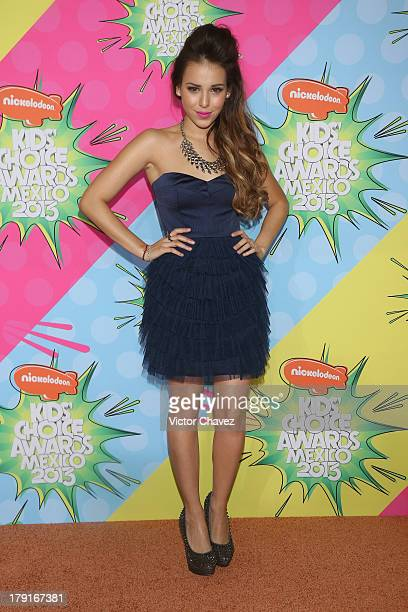 Danna Paola arrives at Kids Choice Awards Mexico 2013 at Pepsi Center WTC on August 31 2013 in Mexico City Mexico