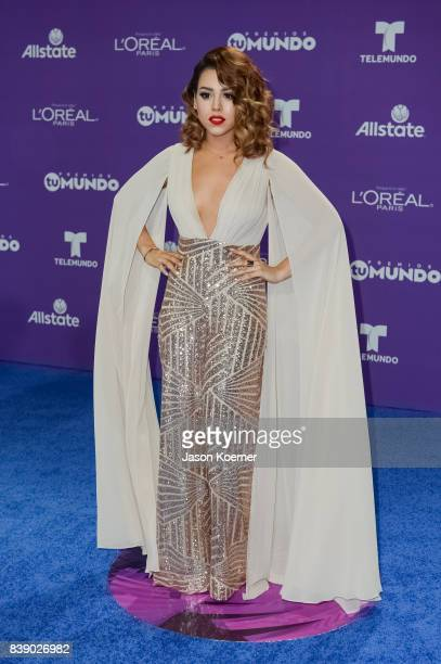 Danna Paola arrives at Telemundo's 2017 'Premios Tu Mundo' at American Airlines Arena on August 24 2017 in Miami Florida