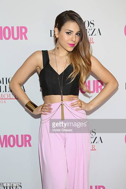 Danna Paola attends premios de belleza Glamour 2014 at salon Mayita on February 19 2015 in Mexico City Mexico