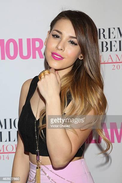 Danna Paola attends premios de belleza Glamour 2014 at salon Mayita on February 19 2015 in Mexico City Mexico