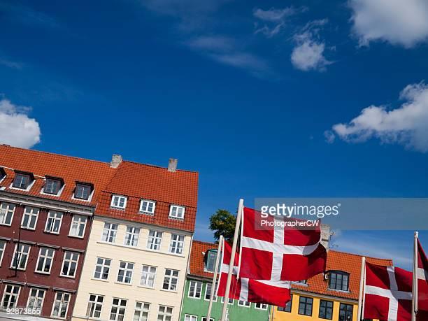Dannebrog in Nyhavn, Copehagen