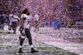 Dannell Ellerbe of the Baltimore Ravens celebrates after winning Super Bowl XLVII against the San Francisco 49ers on February 3 2013 in New Orleans...