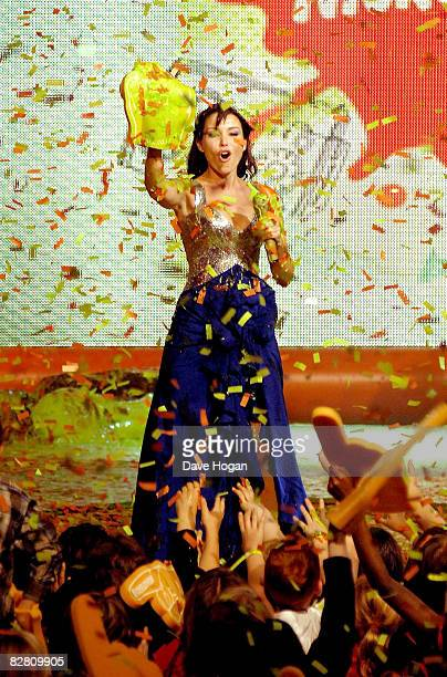 Danni Minogue hosts the Nickelodeon Kids' Choice Awards UK 2008 held at the ExCeL London on September 13 2008 in London England