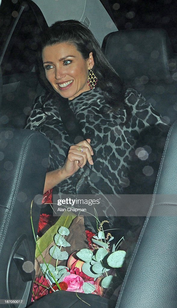 Danni Minogue sighting at The Ivy on November 5, 2013 in London, England.