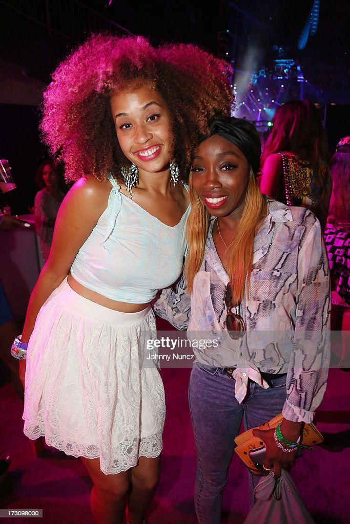 Danni Washington and Estelle attend the 2013 Essence Festival at the Mercedes-Benz Superdome on July 6, 2013 in New Orleans, Louisiana.