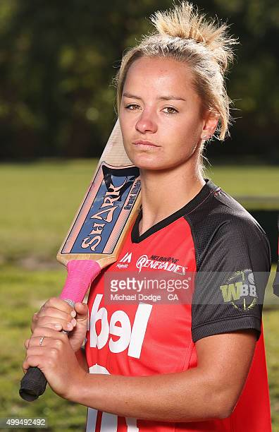 Danni Wyatt of the Renegades poses during the Women's Big Bash League Launch at Toorak Prahan Cricket Club on December 2 2015 in Melbourne Australia