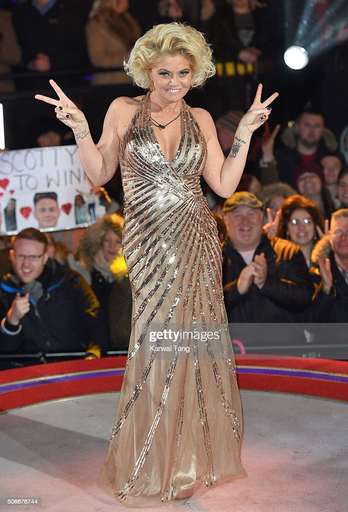 Danniella Westbrook is evicted from the Big Brother house at Elstree Studios on February 5, 2016 in Borehamwood, England.