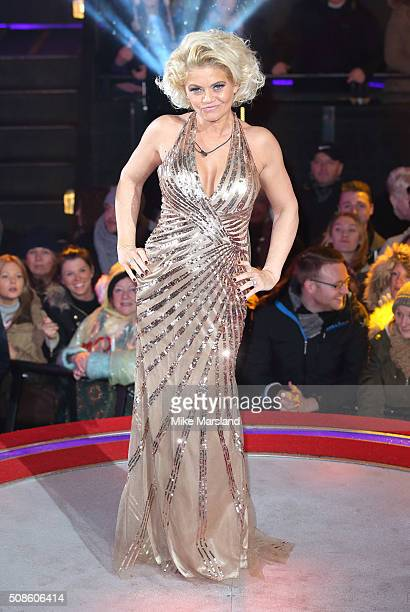 Danniella Westbrook is evicted from the Celebrity Big Brother House at Elstree Studios on February 5 2016 in Borehamwood England