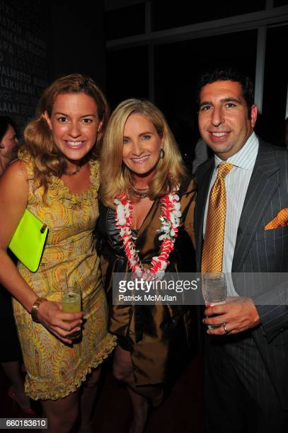 Dannielle Kyrillos Alex Witt and JeanPaul Kyrillos attend TRAVELLEISURE World's Best Awards Party at Cooper Square Hotel on July 21 2009 in New York
