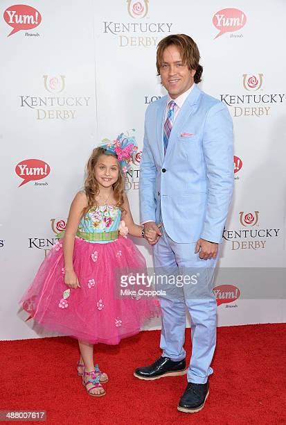 Dannielynn and Larry Birkhead attend 140th Kentucky Derby at Churchill Downs on May 3 2014 in Louisville Kentucky