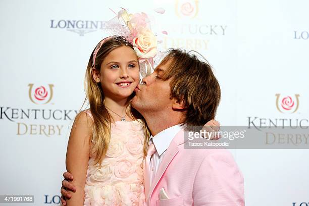 Dannielynn Birkhead and Larry Birkhead attend the 141st Kentucky Derby at Churchill Downs on May 2 2015 in Louisville Kentucky