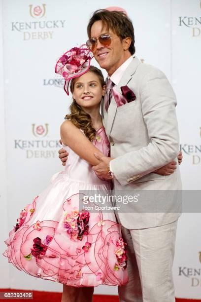 Dannielynn Birkhead and Larry Birkhead attend the 143rd Kentucky Derby at Churchill Downs on May 6 2017 in Louisville Kentucky