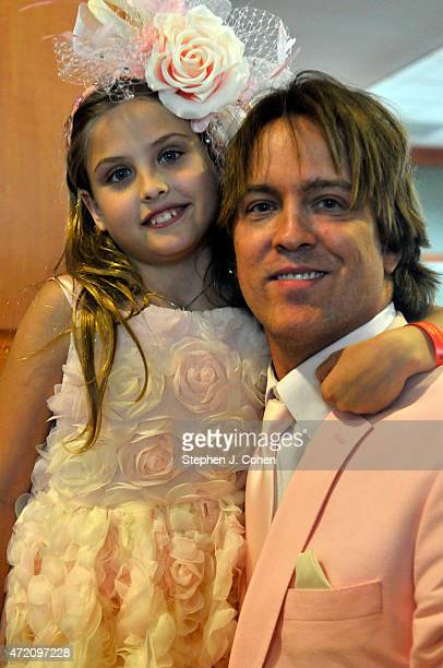 Dannielynn Birkhead and Larry Birkhead attends the 141st Kentucky Derby at Churchill Downs on May 2 2015 in Louisville Kentucky