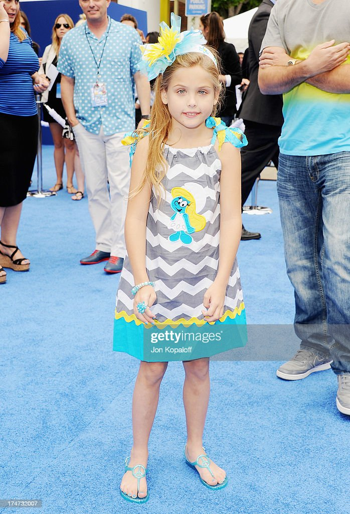 Dannielynn Birkhead arrives at the Los Angeles Premiere 'Smurfs 2' at Regency Village Theatre on July 28, 2013 in Westwood, California.