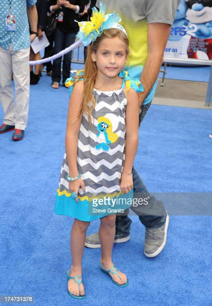 Dannielynn Birkhead arrivies at the 'Smurfs 2' Los Angeles Premiere at Regency Village Theatre on July 28 2013 in Westwood California