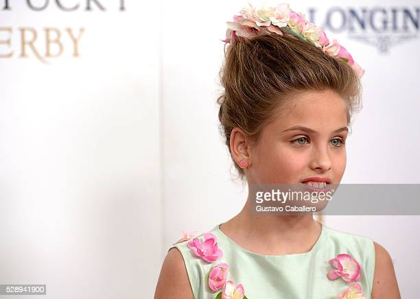 Dannielynn Birkhead attends the 142nd Kentucky Derby at Churchill Downs on May 07 2016 in Louisville Kentucky