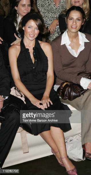 Dannii Minogue and Elisa Tovati during Paris Fashion Week Autumn/Winter 2006 Ready to Wear Celine Front Row at Jardins Ephemeres in Paris France